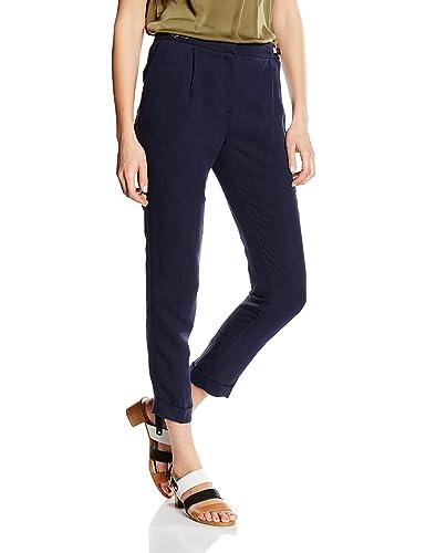 Cortefiel Fluido Vuelta Bajo Pinzas, Pantalones para Mujer
