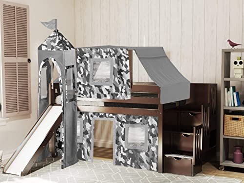 JACKPOT Castle Low Loft Stairway Bed