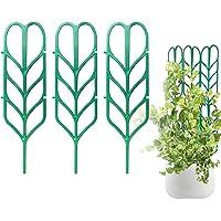 PeerBasics, Indoor Plant Trellis, 3 Pack, Climbing Garden Leaf Shape Supports, for DYI Climbing Stems Stalks & Vine Vegetable Potted Garden (3)
