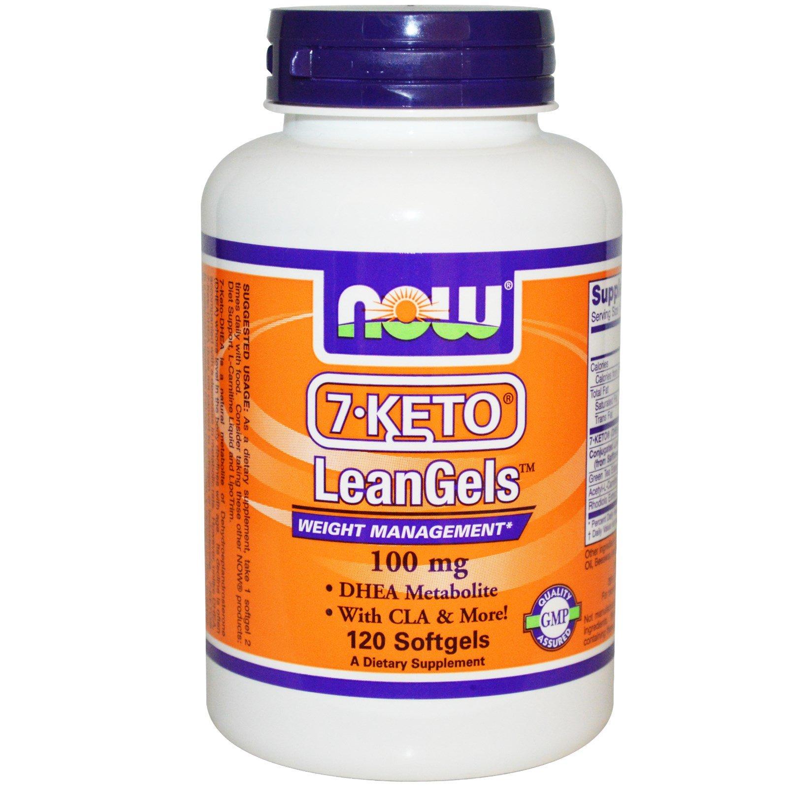 Now Foods - 7 keto - 100 mg - 120 Leangels (Pack of 2)