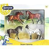 Breyer Stablemates Super Sporty Four Horse Set