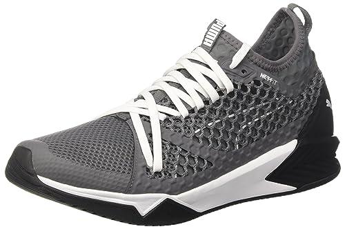 7f73962cff60 Puma Men s Ignite Xt Netfit Quiet Shade and Black Running Shoes-10.5 UK  India