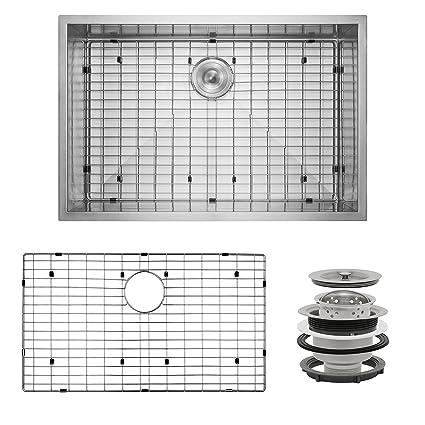 Single Basin Kitchen Sink 33 X 22 Perfetto kitchen and bath 33 x 22 x 9 handmade 18 gauge stainless perfetto kitchen and bath 33quot x 22quot x 9quot handmade 18 gauge stainless workwithnaturefo