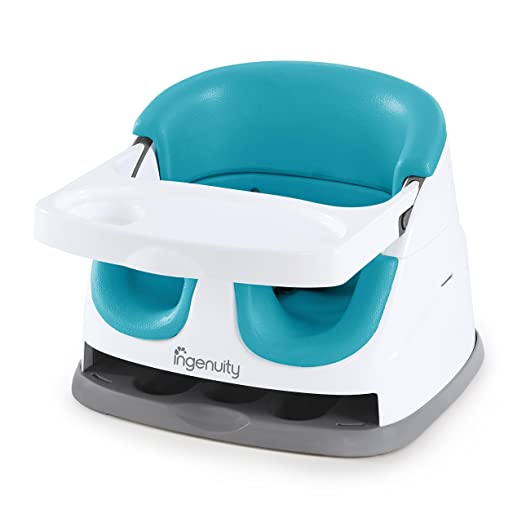 Ingenuity Baby Base 2-in-1 Seat - Peacock Blue - Booster Feeding Seat