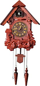 ARAD Decorative Wooden Clock for Walls-Rustic Hanging Wooden Clock for Home Use