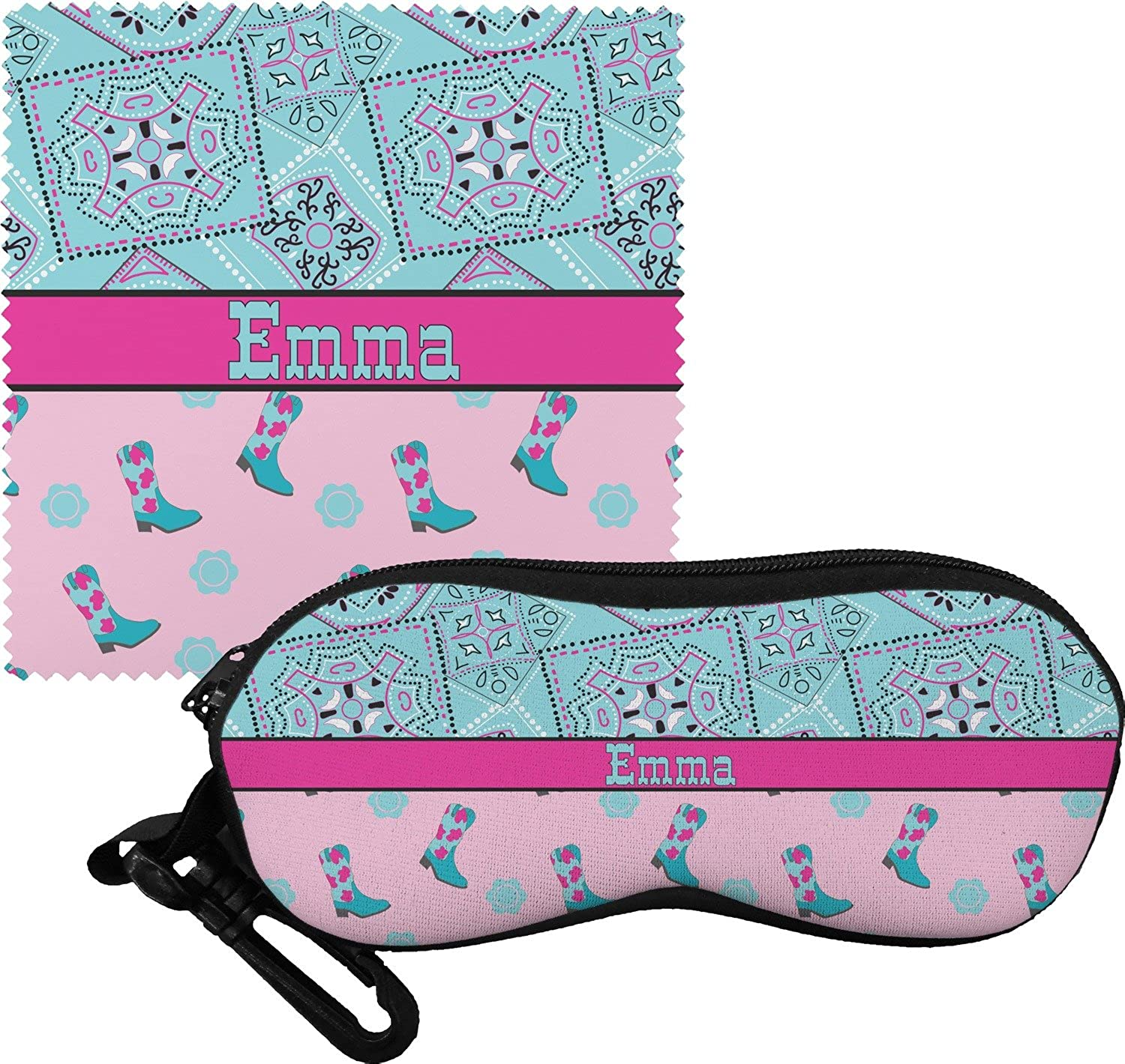 Cowgirl Eyeglass Case & Cloth (Personalized)