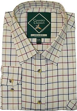 Country Classics - Camisa Kelso a cuadros de manga corta para hombre