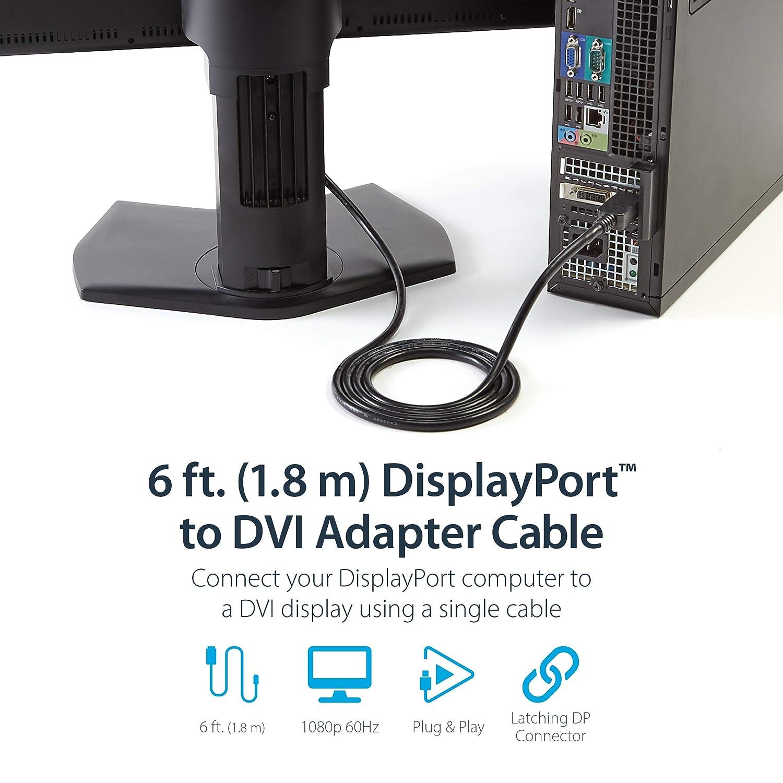 Startech.Com Cavo Displayport a DVI di 1.8 M M//M