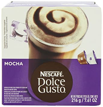 Nescafe Dolce Gusto for Nescafe Dolce Gusto Brewers, Mocha, 16 Count