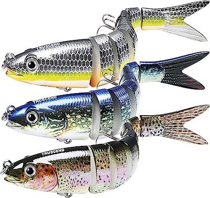 Fishing Lure Lifelike Swimbait Slow Sinking Glidebait for Bass Trout Freshwater