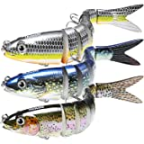 "TRUSCEND Fishing Lures for Bass Trout 4.7~7"" Multi Jointed Swimbaits Slow Sinking Bionic Swimming Lures Bass Freshwater Saltwater Bass Fishing Lures Kit Lifelike"