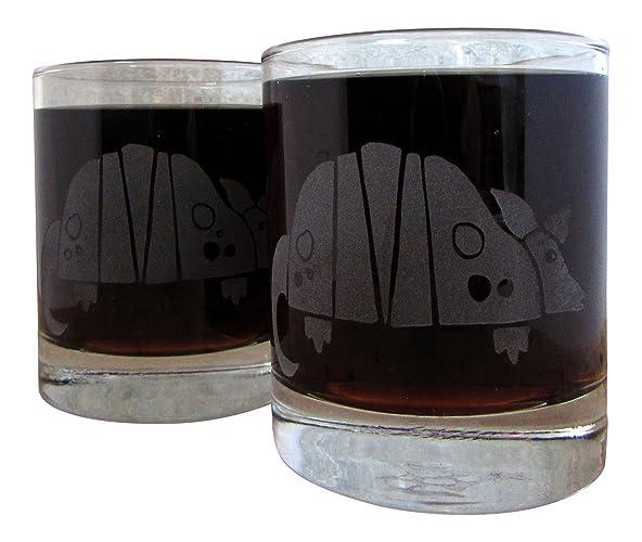 Amazon.com: Armadillo | Etched Glassware (Old Fashioned): Handmade