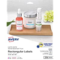 """Avery Removable Labels for Laser & Inkjet Printers, 1.25"""" x 1.75"""", 256 Water Resistant Labels (22828)"""
