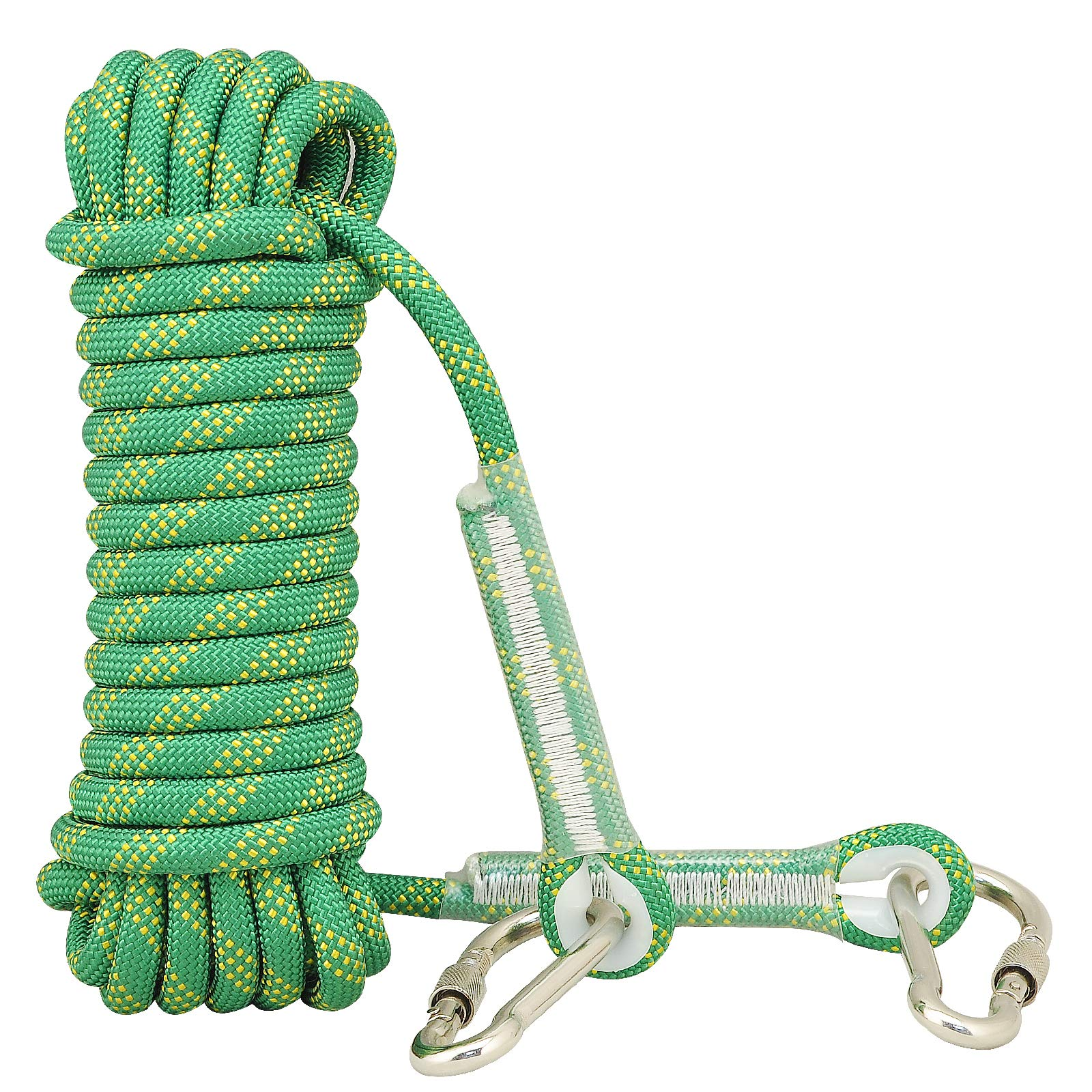 Syiswei Rock Climbing Rope 12MM, (10m,32ft)(20m,65ft) (30m,98ft) Static Outdoor Climbing Rope, Safety Rope Tree Swing Climbing Rope