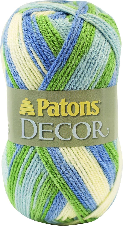 PatonsDecor Yarn - (4) Medium Worsted Gauge- 3.5oz -Sweet Country- For Crochet, Knitting & Crafting