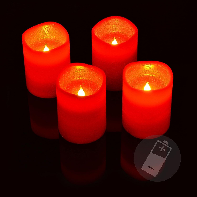 Weihnachtsdeko Led Kerzen.Vingo 10er Led Weihnachtskerzen Led Kerzen Mit Batterien