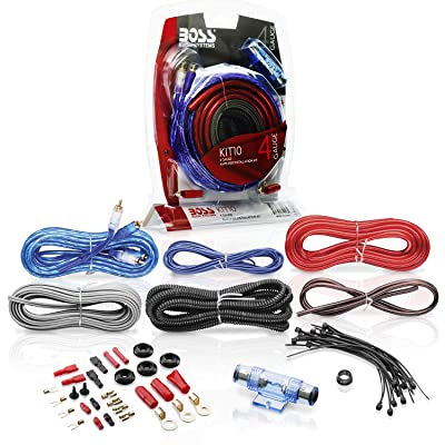 BOSS Audio Systems KIT10 4 Gauge Amplifier Installation Wiring Kit