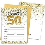 Amazon.com: Invitaciones para fiesta de 50 cumpleaños, color ...