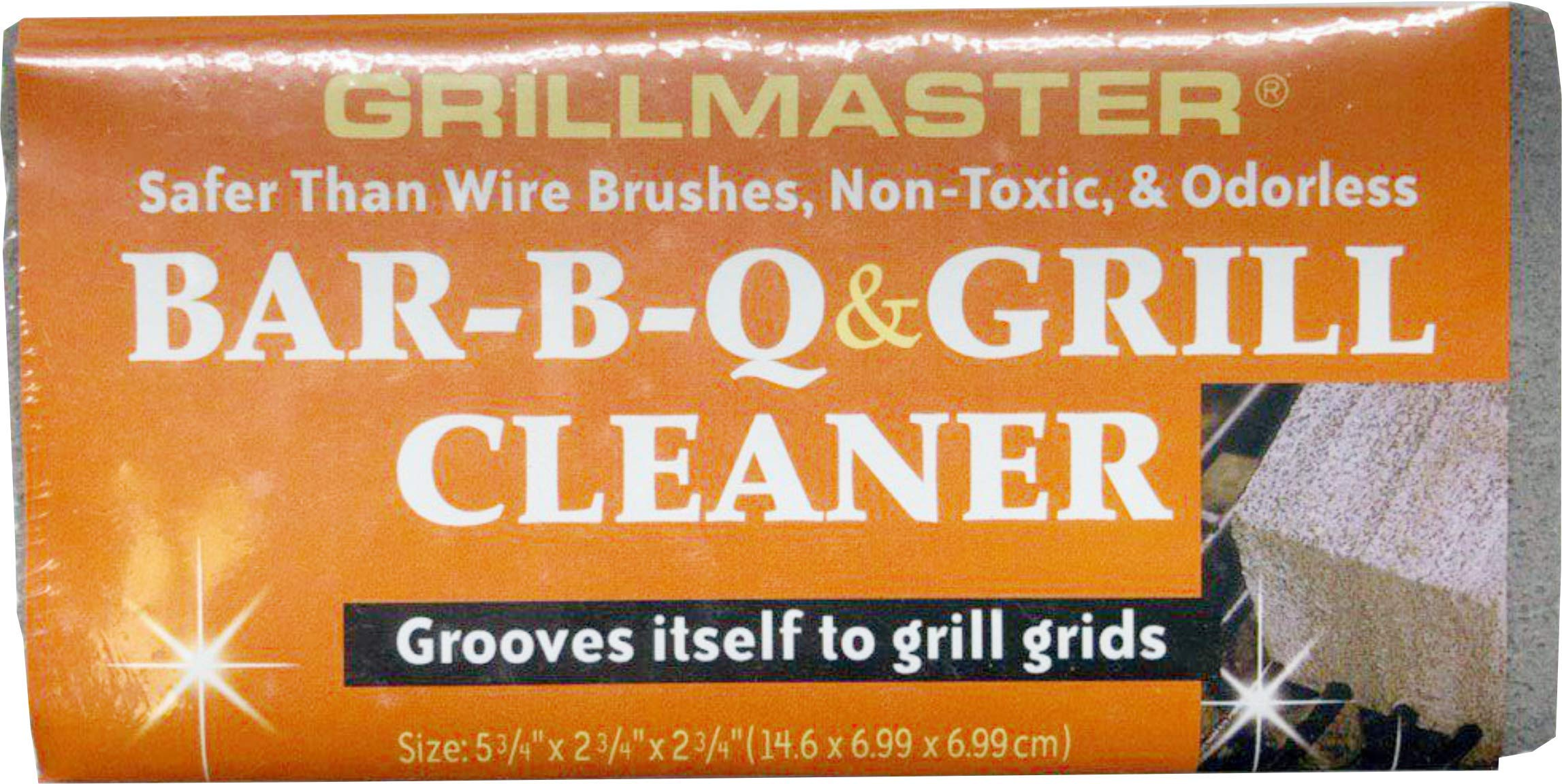 Grillmaster | BQ-12 | BBQ Cleaner Pumice Stone | Case of 12 | GrillBrick for Grill Cleaning | Medium Size | 5.75x2.75x2.75 inches (12) by GRILLMASTER (Image #3)