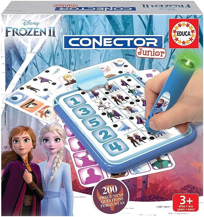 Educa- Conector Junior Frozen II Juego de Preguntas y respuestas, Incluye boli Sabio con led, para niños de Entre 3 y 5 años (18543): Amazon.es: Juguetes y juegos