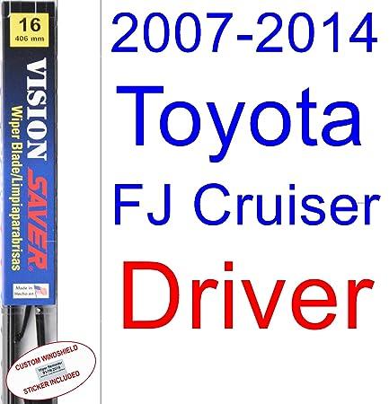 Amazon.com: 2007-2014 Toyota FJ Cruiser Replacement Wiper Blade Set/Kit (Set of 2 Blades) (Saver Automotive Products-Vision Saver) (2008,2009,2010,2011,2012 ...