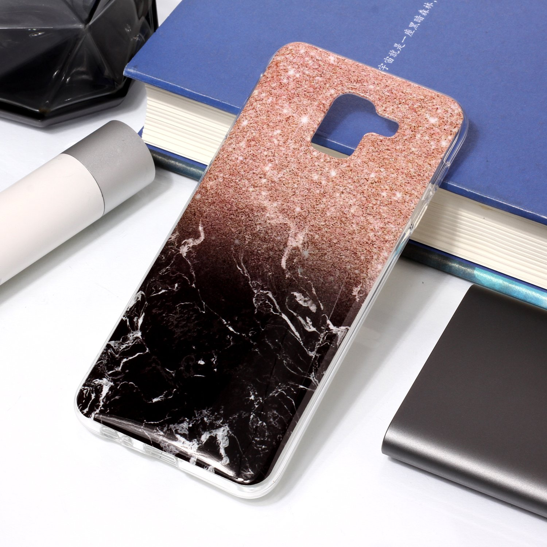 Homikon Silikon H/ülle Marmor Muster TPU Handyh/ülle Ultra D/ünn Matt Weiche Schutzh/ülle Sto/ßd/ämpfend R/ückseite Soft Flexibel Tasche Case Cover Bumper Kompatibel mit Samsung Galaxy J6 2018 #6