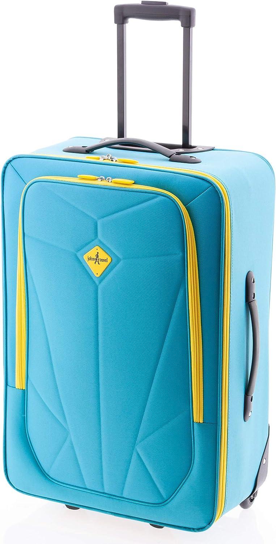 Pocket de John Travel, Maleta de Viaje 2 Ruedas (Grande, 78 cm)