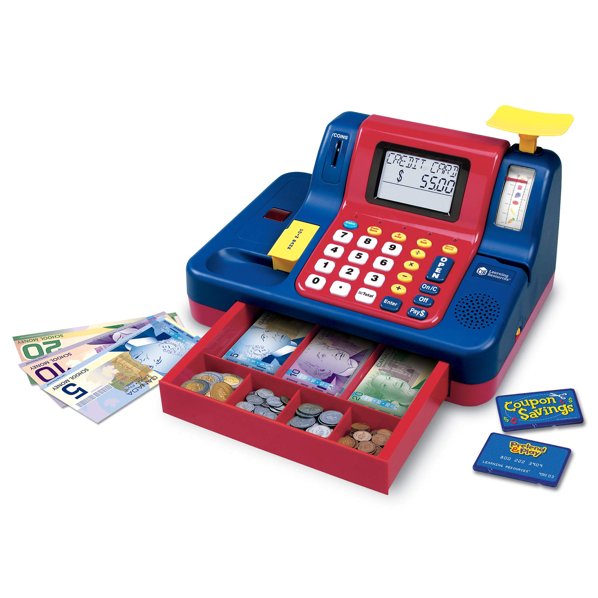 Learning Resources Pretend & Play Teaching Cash Register [Frustration Free Packaging] by Learning Resources