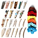 30 Pcs Hair Clips for Women , Handmade Pearl, Acrylic Resin Metal Hair Pins Barrettes for Thin or Thick Hair, Fasion Hair Sty