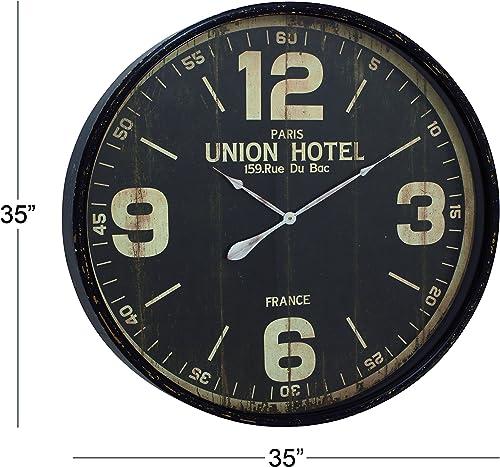 Deco 79 52128 Metal Wall Clock, 35