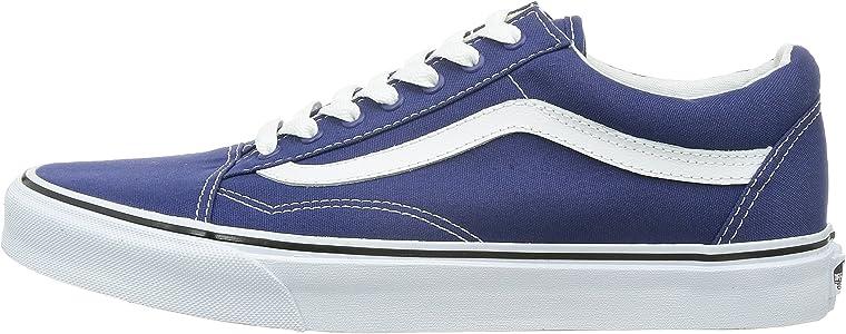 Vans Old Skool Twilight Blue & True White SLUTT.  Vans Men's Old Skool Skate Shoe (7.5 D(M) US