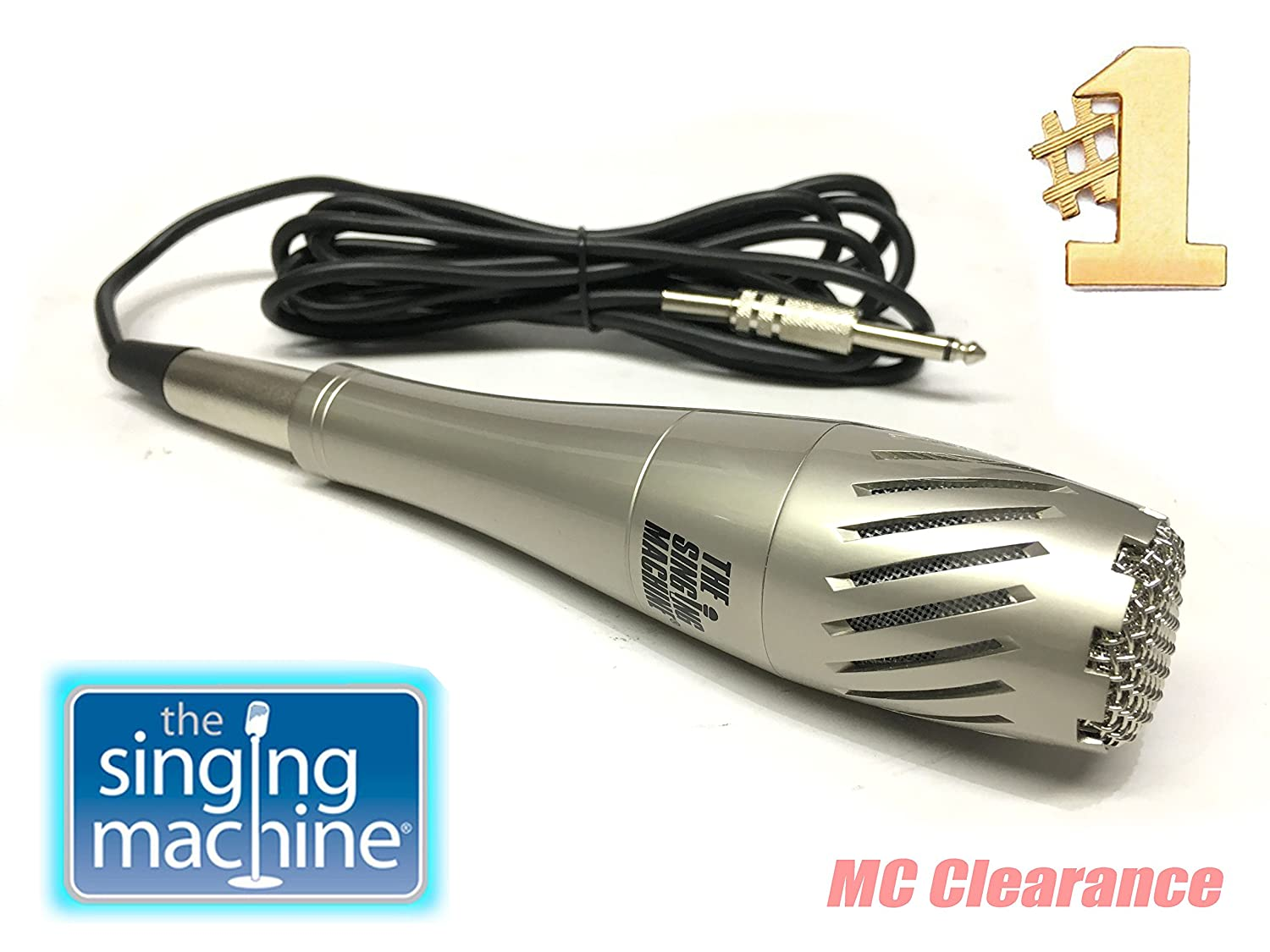 Singing Machine Professional Dynamic Microphone SMM-593 with detachable 10.5 ft Cord