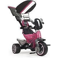 INJUSA - Triciclo infantil Body Sport para niños a partir de 10 meses evolutivo con rueda libre, control parental de dirección, rosa (3252)