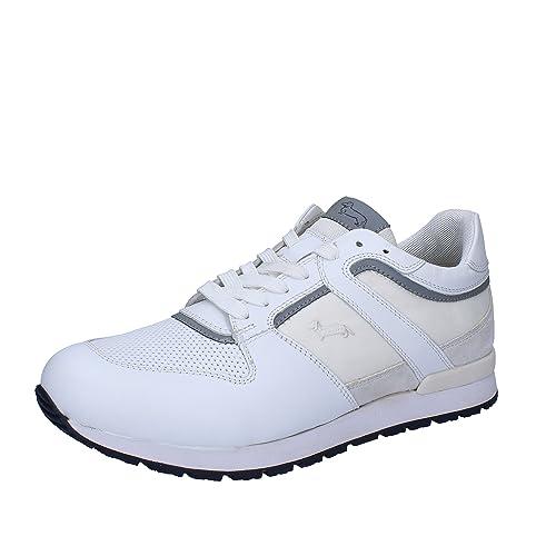 Sneakers it Uomo Pelle Bianco Amazon amp  Tessuto EU 43 Harmont Blaine  qvxwEt1va f1210b9eae8