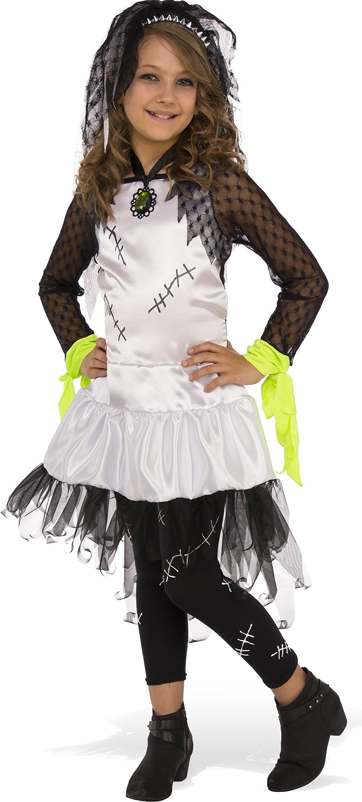 Rubies Costume Child's Monster Bride Costume, Medium, Multicolor