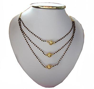 Indian Designer Gold Plated Three Layer Mangalsutra 18 719