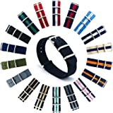 CIVO Reloj Bandas OTAN Premium Ballistic Nylon hebilla de correa de reloj de acero inoxidable de 18mm 20mm 22mm con barra de herramientas de Primavera y superior 4barras de resorte de bonificación