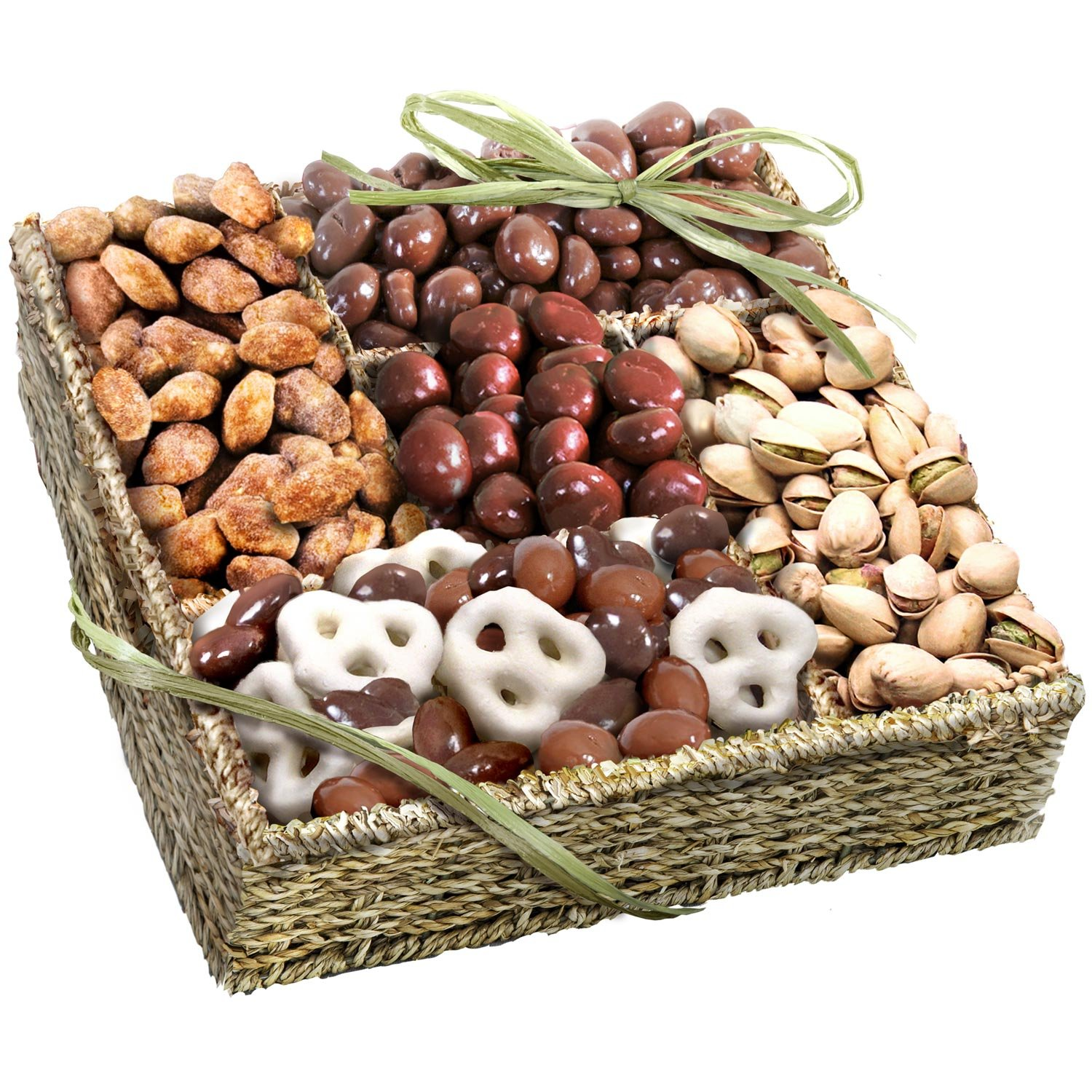Amazon.com : Mendocino Organic Chocolate and Nuts Gift Basket ...