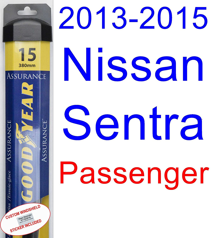Amazon.com: 2013-2015 Nissan Sentra Wiper Blade (Driver) (Goodyear Wiper Blades-Assurance) (2014): Automotive