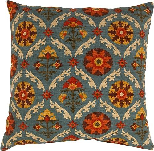 Pillow Perfect Mayan Medallion 24.5-Inch Floor Pillow, Adobe