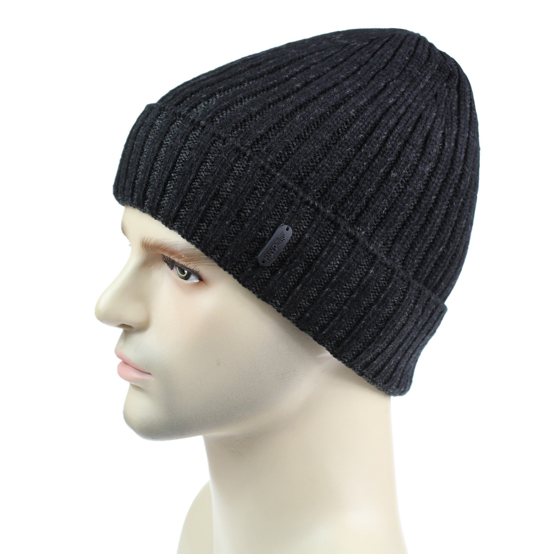 dbca84c6fa9 Connectyle Classic Men s Warm Winter Hats Thick Knit Cuff Beanie Cap with  Lining