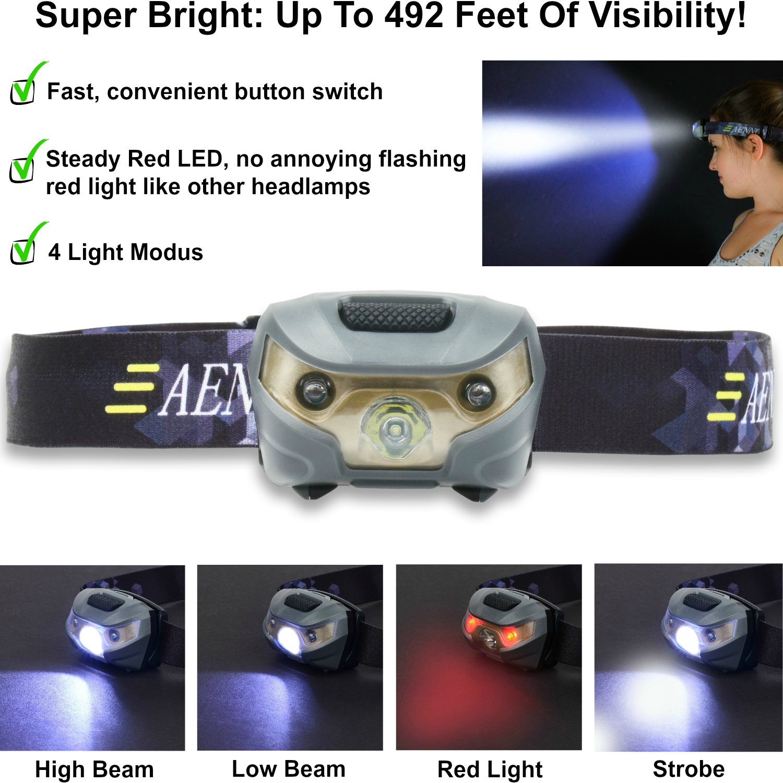 usb rechargeable led headlamp flashlight super