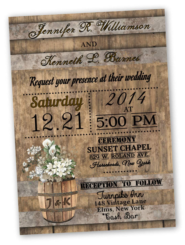 Amazon Com Wedding Invitations Rustic Country Fall Calla Lily Set Of 30 Handmade