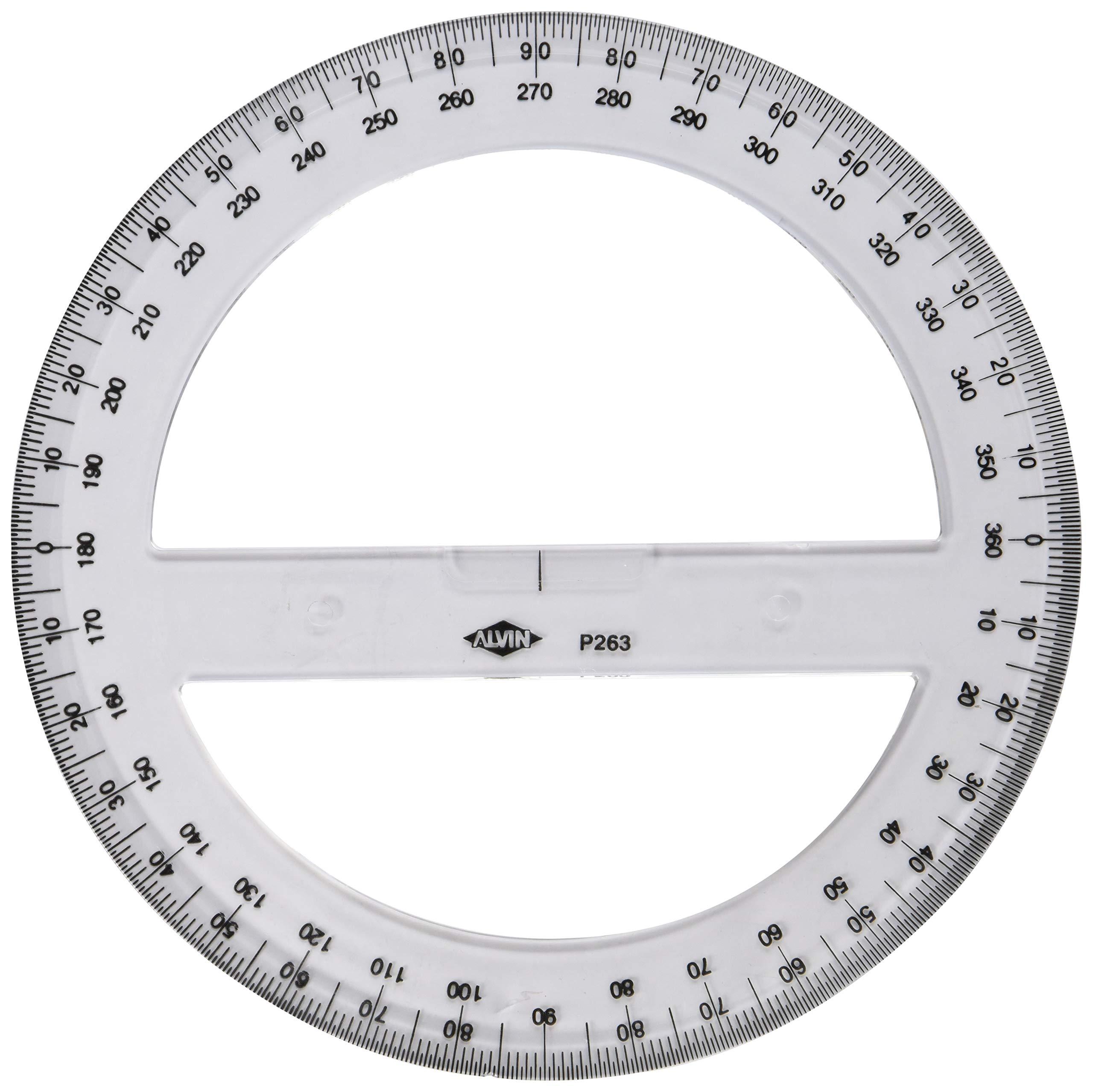 Alvin Circular Protractor, 8'' (P263) by Alvin