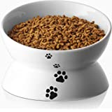 Y YHY Cat Bowl, Raised Tilted Cat Food Bowls, Elevated Cat Bowls Anti Vomiting, Ceramic Pet Food Bowl for Flat-Faced Cats, Sm