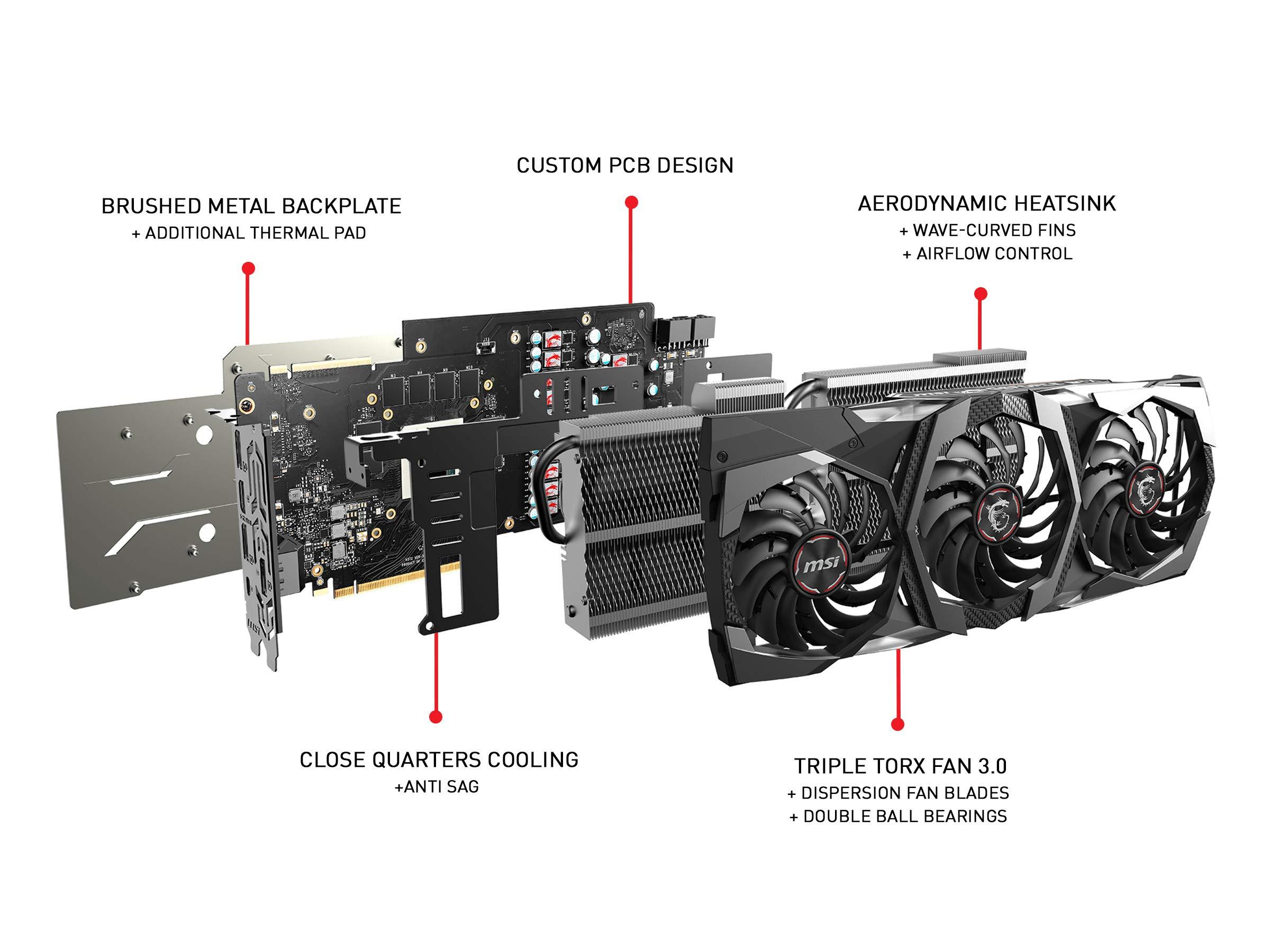 MSI Gaming GeForce RTX 2080 8GB GDRR6 256-bit VR Ready Graphics Card (RTX 2080 GAMING X TRIO) by MSI (Image #6)