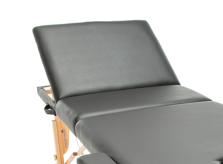 Massage Imperial/® Chalfont Lettino da Massaggio Portatile proluxe Leggera 3 Zone Pannelli Reiki Colore : Nero