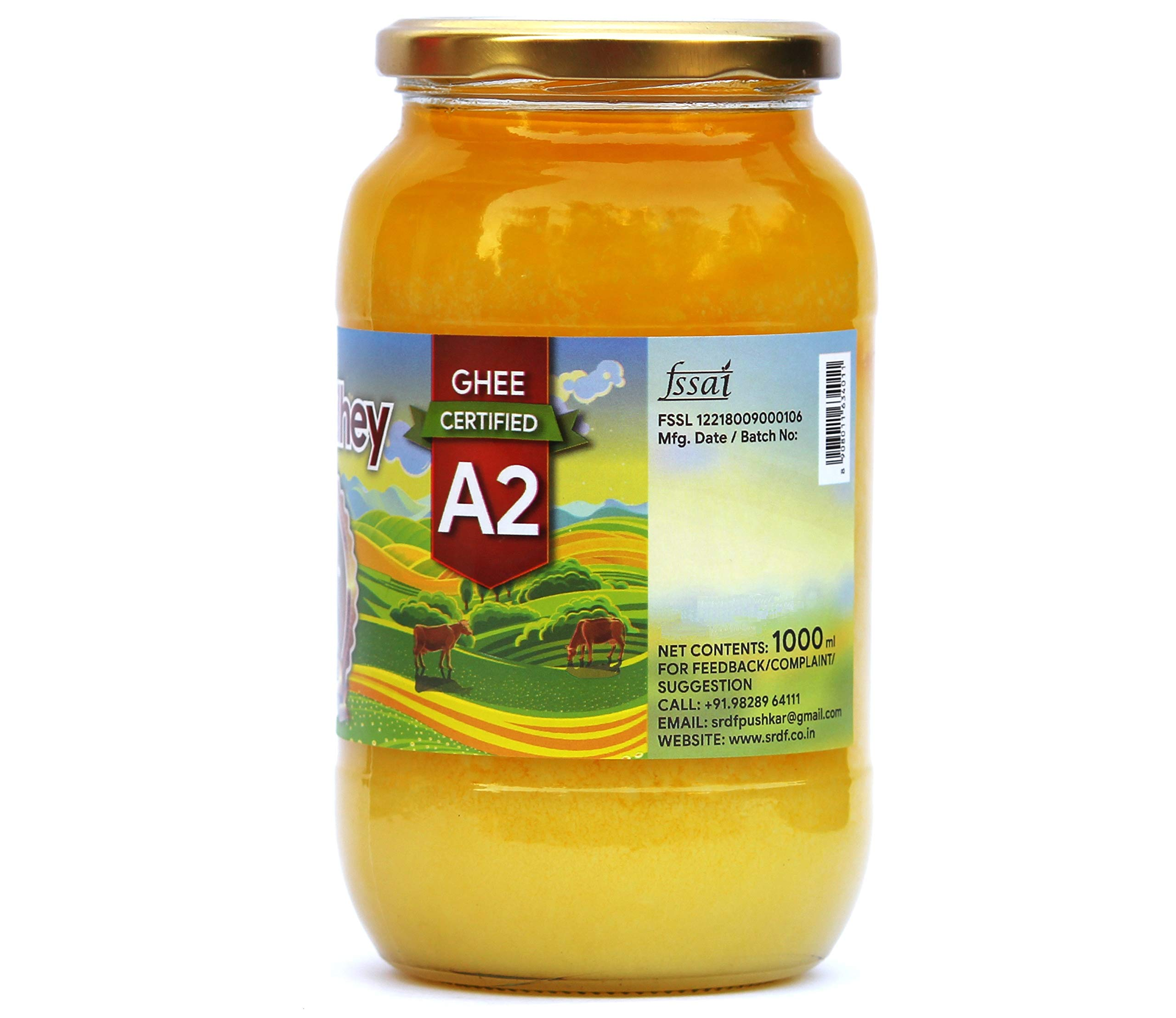 Shree Radhey Certified A2 Gir Cow Ghee - Gluten Free - (Traditionaly Hand Churned) 1000 ml by Shree Radhey (Image #2)