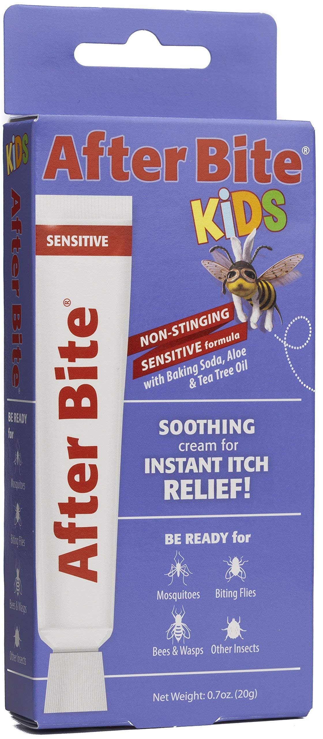 After Bite Kids, Sensitive Formula, Pharmacist Preferred Insect Bite & Sting Treatment, Natural Healing, Aloe Vera, Skin Protectant, Portable Instant Relief, Stop Itching Cream, 0.7-Ounce by After Bite