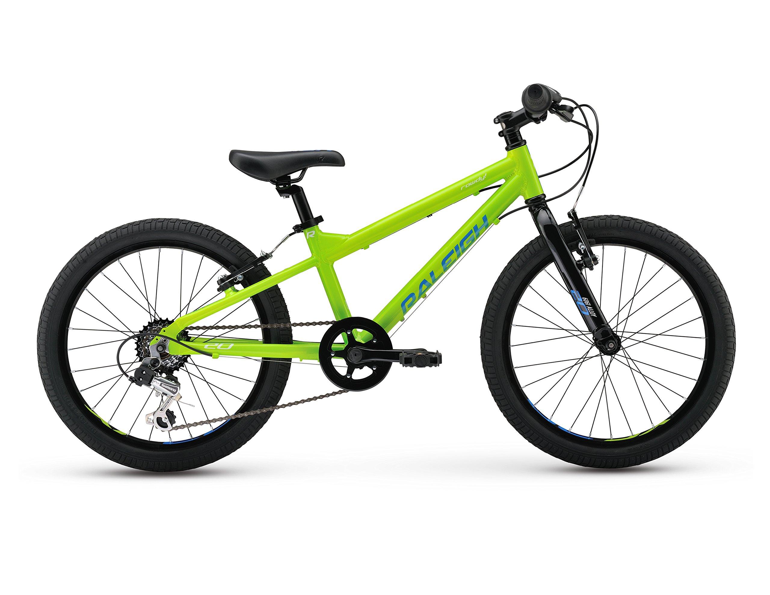 Raleigh Bikes Kids Rowdy 20 Mountain Bike, One Size, Green by Raleigh Bikes